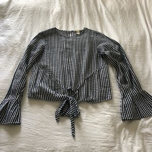 HM stripe blouse